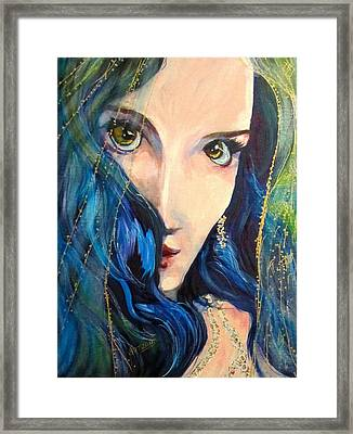 Mariah Blue Framed Print