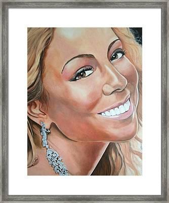 Mariah Carey Framed Print by Timothe Winstead