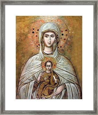 Mariam Icon Framed Print by Munir Alawi