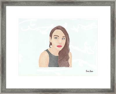 Mariand Castrejon - Yuya Framed Print