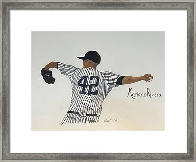 Mariano Rivera Framed Print by Dana Scarlatos