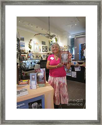 Framed Print featuring the photograph Marie And The Recordkeeper by Marie Neder