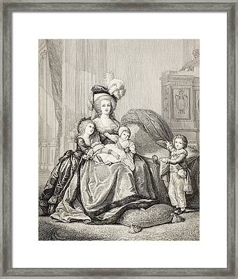 Marie-antoinette And Her Children. From Framed Print by Vintage Design Pics