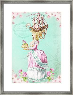 Marie Antoinette Let Them Eat Cake Framed Print by Wendy Paula Patterson