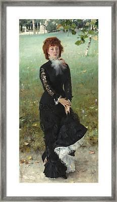 Marie Buloz Pailleron Framed Print by John Singer Sargent