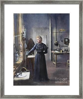 Marie Curie (1867-1934) Framed Print by Granger