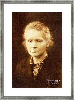 Marie Curie By Mary Bassett Framed Print by Mary Bassett