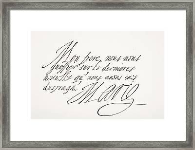 Marie De M Framed Print