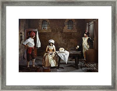 Marie Tussaud (1760-1850) Framed Print by Granger