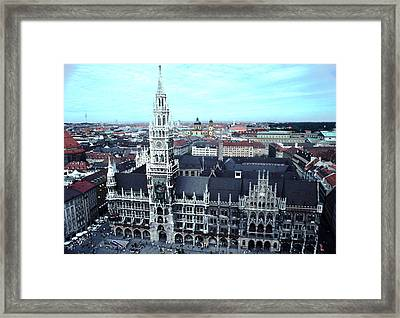 Marienplatz  City Hall Munich Framed Print by Tom Wurl