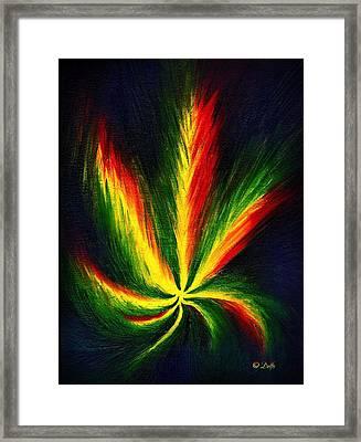Marijuana Leaf Framed Print by Jenn Delfs