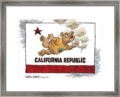 Marijuana Referendum In California Framed Print