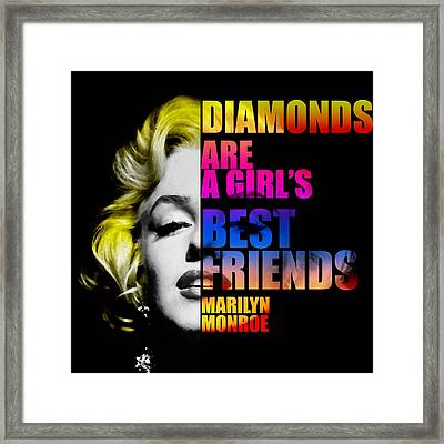 Marilyn Monroe Motivational Inspirational Independent Quote Framed Print