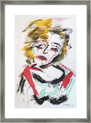 Marilyn Abstract Framed Print