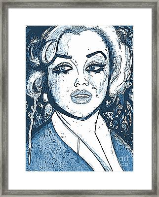 Marilyn Anxiety Blues Framed Print