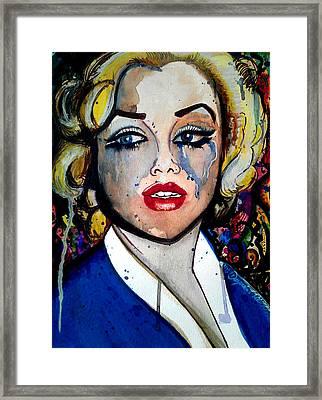 Marilyn Anxiety Framed Print