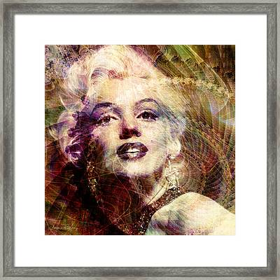 Marilyn Framed Print by Barbara Berney