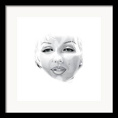 Marilyn Munroe Digital Art Framed Prints