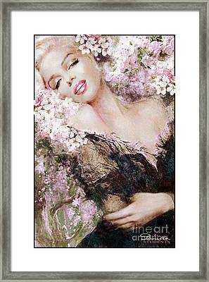 Marilyn Cherry Blossom B Framed Print