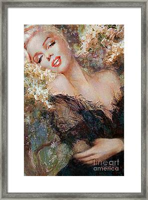 Marilyn Cherry Blossom Framed Print