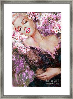 Marilyn Cherry Blossoms Pink Framed Print