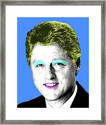 Marilyn Clinton  - Blue Framed Print