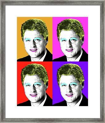 Marilyn Clinton X 4 Framed Print