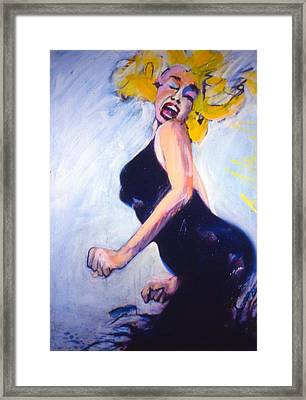Marilyn Dancing Framed Print by Les Leffingwell