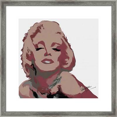 Marilyn Framed Print by Debbie McIntyre