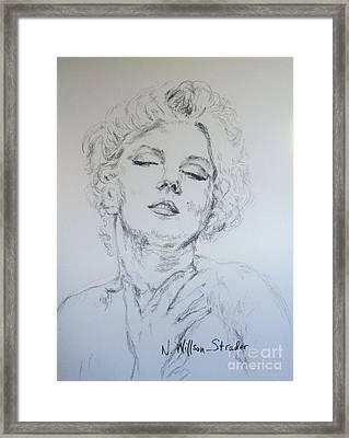 Marilyn, Feelings Framed Print
