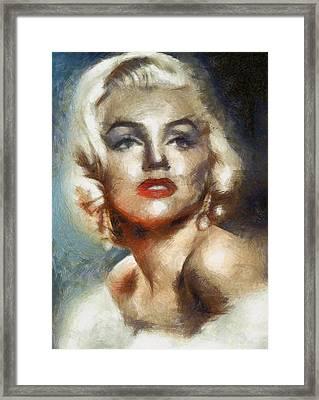Marilyn Glamour By Mary Bassett Framed Print by Mary Bassett