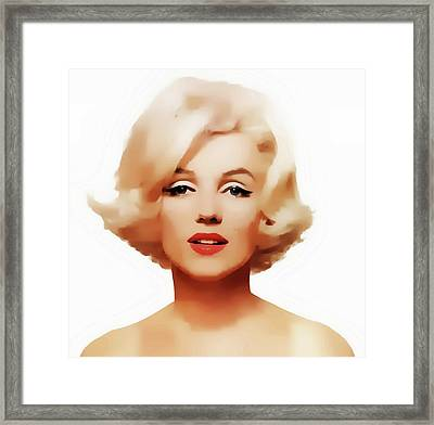 Marilyn Framed Print by Joseph Frank Baraba