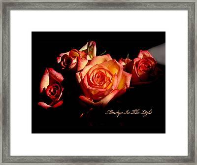 Marilyn Light Framed Print by Richard Gordon