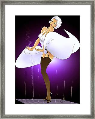 Framed Print featuring the painting Marilyn by Lynn Rider