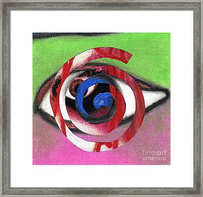Marilyn Manson Eye Spiral Framed Print by Christine Perry