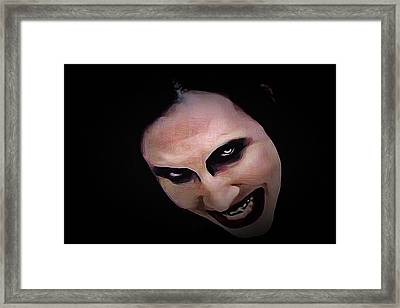 Marilyn Manson - Tainted Love Framed Print by Alexey Bazhan