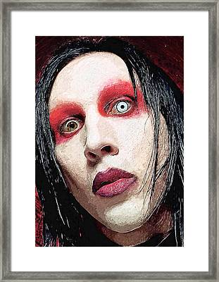 Marilyn Manson Framed Print