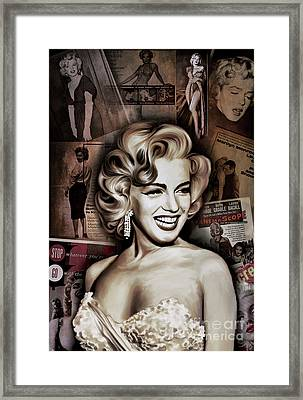 Framed Print featuring the painting   Marilyn Monroe 4  by Andrzej Szczerski
