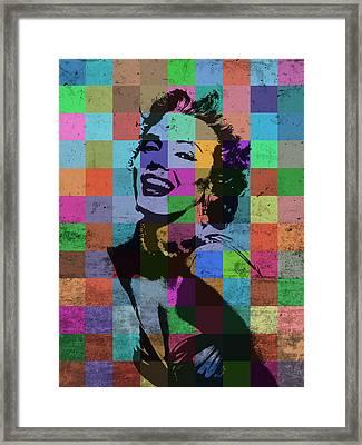 Marilyn Monroe Actor Hollywood Pop Art Patchwork Portrait Pop Of Color Framed Print