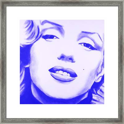 Marilyn Monroe - Blue Tint Framed Print