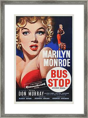 Marilyn Monroe - Bus Stop Framed Print by Georgia Fowler