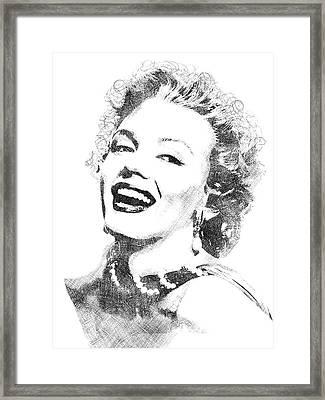 Marilyn Monroe Bw Portrait Framed Print