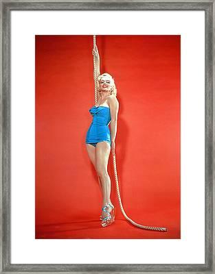 Marilyn Monroe, C. 1950s Framed Print by Everett