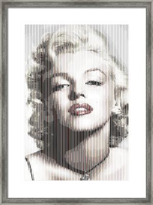 Marilyn Monroe - Colored Verticals Framed Print