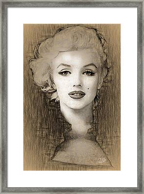 Marilyn Monroe Divine  Framed Print by Quim Abella