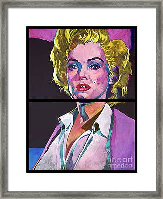 Marilyn Monroe Dyptich Framed Print by David Lloyd Glover