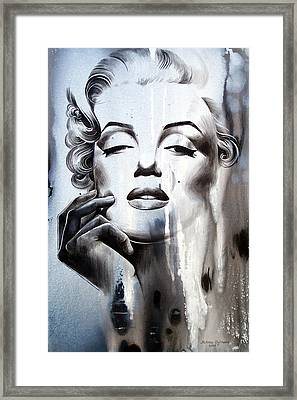 Marilyn Monroe Framed Print by Fatima Azimova