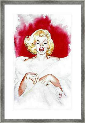 Marilyn Monroe Glamour Goddess Framed Print by Ken Meyer