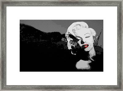 Marilyn Monroe Hollywood Star Framed Print by Brad Scott
