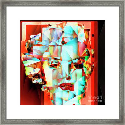 Framed Print featuring the photograph Marilyn Monroe In Abstract Cubism 20170326 by Wingsdomain Art and Photography